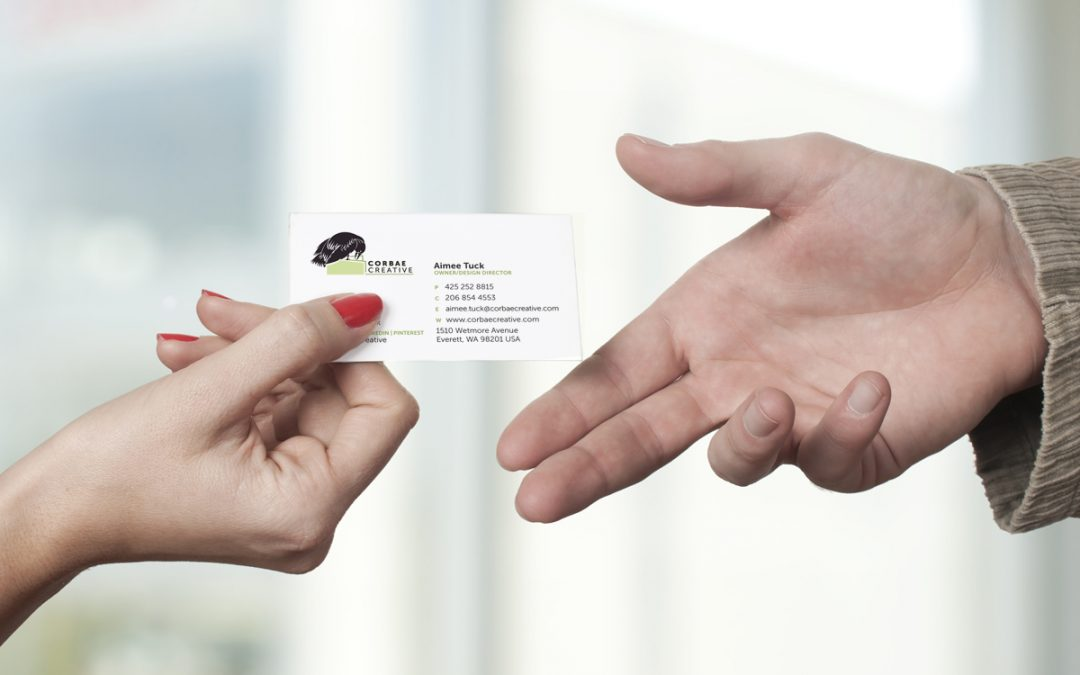 What information is important on a business card?